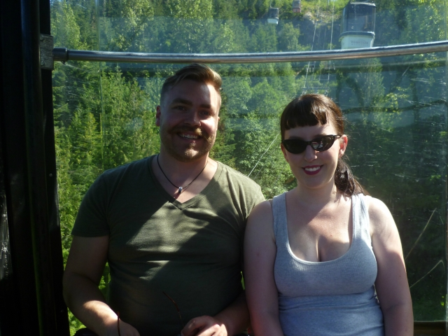 Taking the ride to the top of Whistler. We were both melting, but luckily it only shows in my bangs.